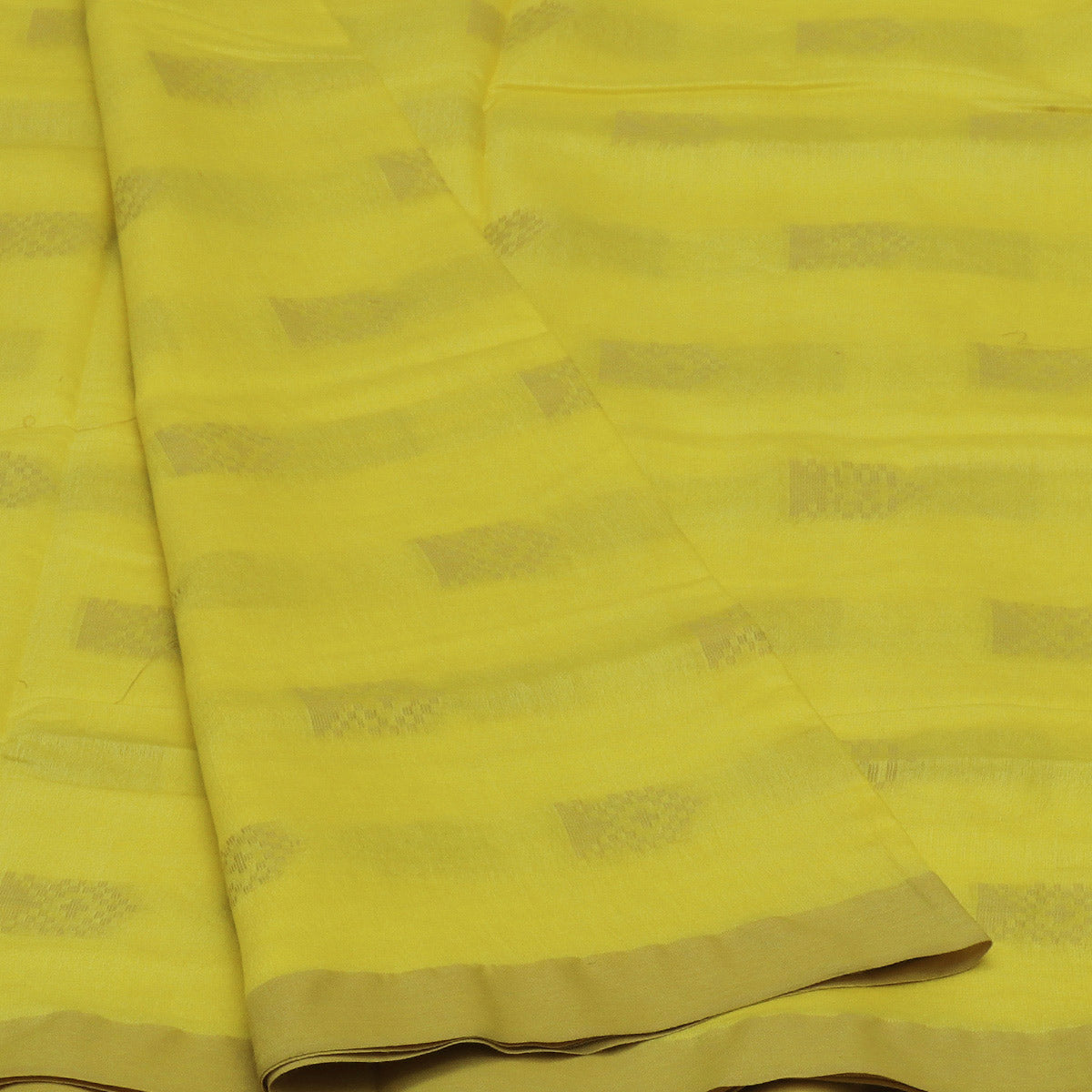 Bhagalpuri Paper Silk Saree Yellow with Simple border