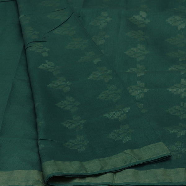 Bhagalpuri Paper Silk Saree Mixed blue grey with Simple border