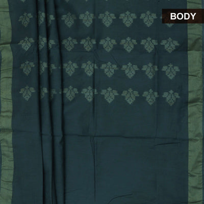 Bhagalpuri Paper Silk Saree Grey with Simple border