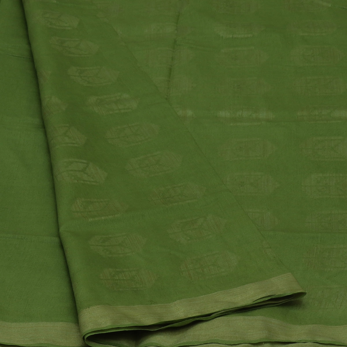 Bhagalpuri Paper Silk Saree Green with Simple border