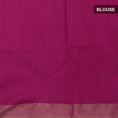 Bhagalpuri Paper Silk Saree Pink with Simple border