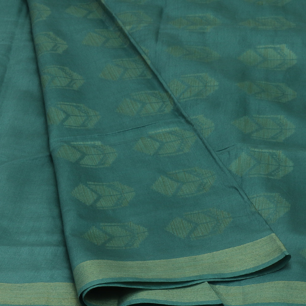Bhagalpuri Paper Silk Saree Bluish Grey with Simple border