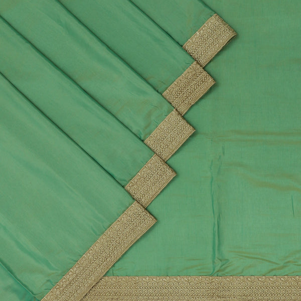 Fancy Saree Sage Green with Mango Embroidery border