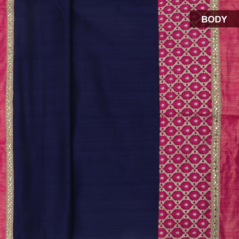 Fancy Saree Blue and Pink with Embroidery border