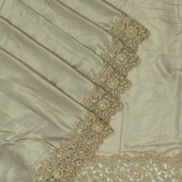 Fancy Saree Tan color with Embroidery border