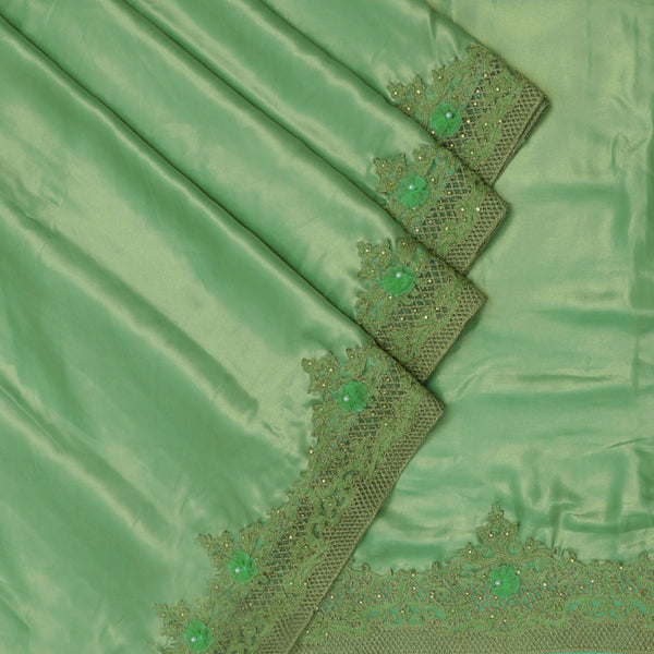 Fancy Saree Olive Green with Embroidery border