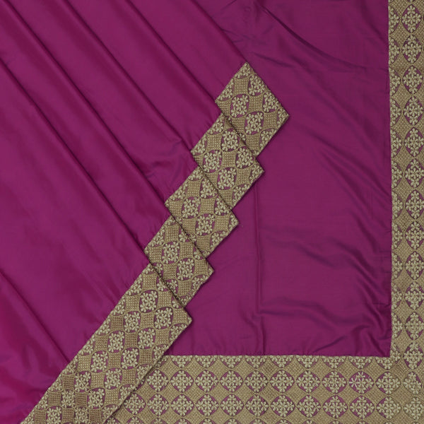 Fancy Saree Violet with Embroidery border