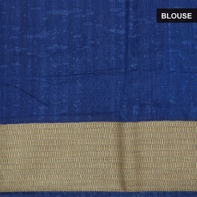Semi Raw Silk Saree Blue with thread border