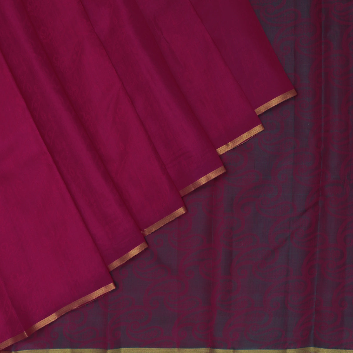 Pure Silk Saree Pink and Peacock Blue with Simple border
