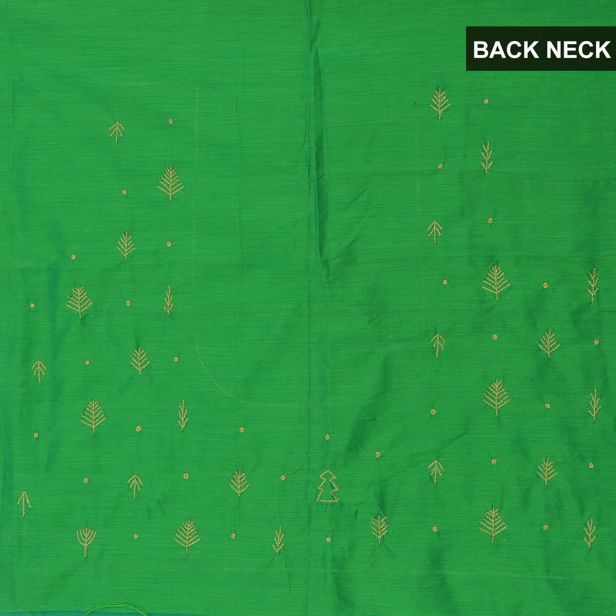 Blouse Material - Silk Cotton Light Green with Thread work for Rs.Rs. 1400.00 | Blouse by Prashanti Sarees