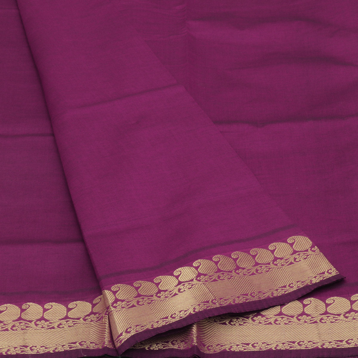 Blended Cotton Saree Pink and Green with mango zari border for Rs.Rs. 1965.00 | by Prashanti Sarees