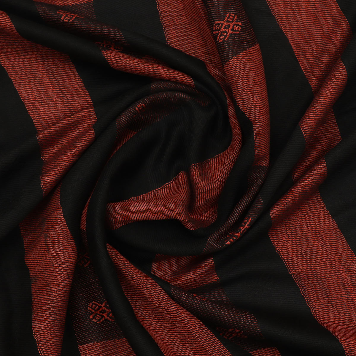 Double Sided Semi Pashmina Stole Black and Brown with Simple design for Rs.Rs. 750.00 | Stole by Prashanti Sarees