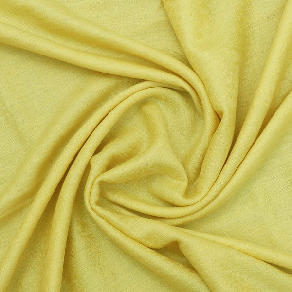 Pure Pashmina Stole Yellow and Brown with Leaf design