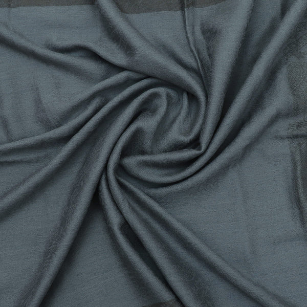 Pure Pashmina Stole Grey with Leaf design