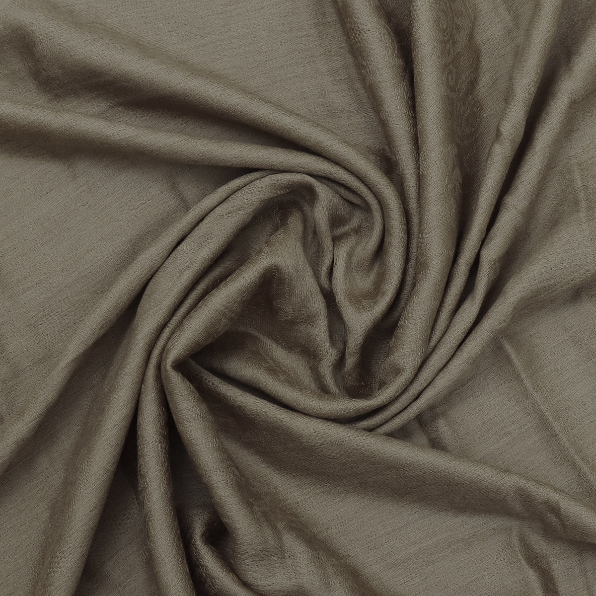 Pure Pashmina Stole Light Brown with Leaf design