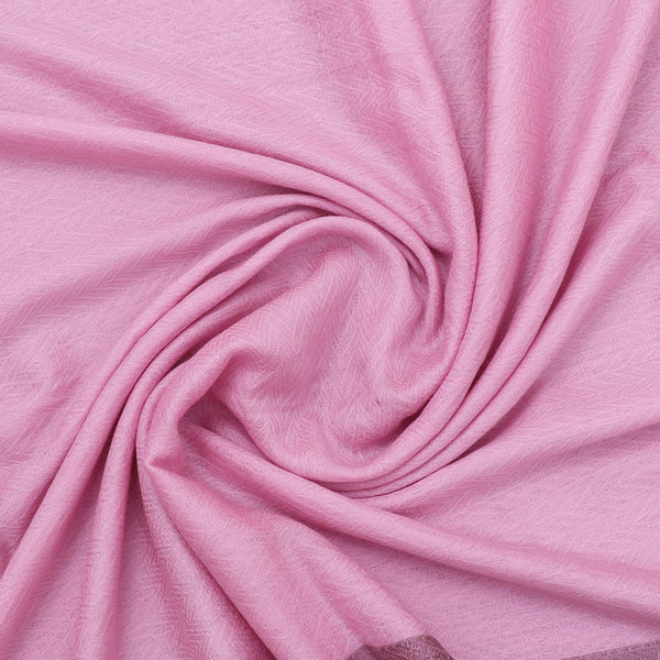 Pure Pashmina Stole Light Pink with Simple design