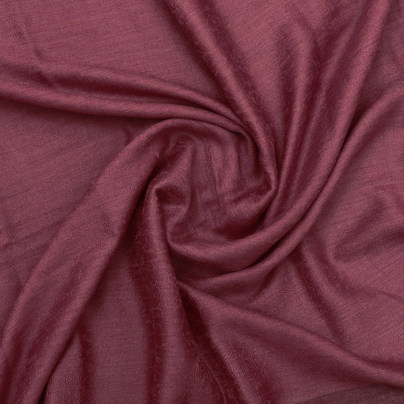 Pure Pashmina Stole Maroon with Leaf design