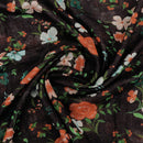 Digital Printed linen Dupatta Black with zari border for Rs.Rs. 1575.00 | Stoles by Prashanti Sarees