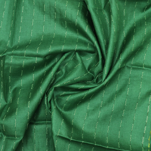 Pure Tussar Silk Dupatta with Pine Green
