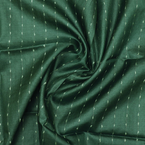 Pure Tussar Silk Dupatta with Hunter Green