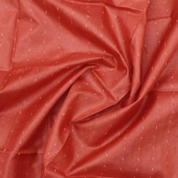 Pure Tussar Silk Dupatta with Orange