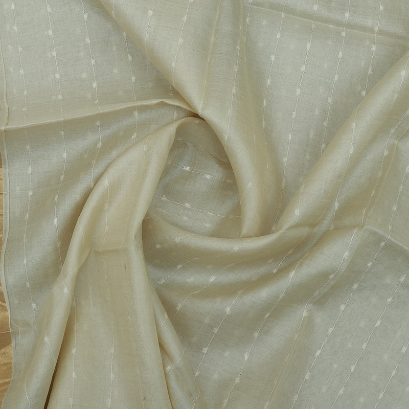 Pure Tussar Silk Dupatta with white for Rs.Rs. 1490.00 | Stoles by Prashanti Sarees