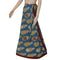 Kalamkari Blue and Maroon wrap around skirt