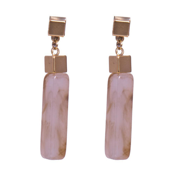 Marble look earrings