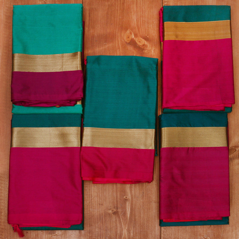 Art Silk Sarees Gift Pack of 5