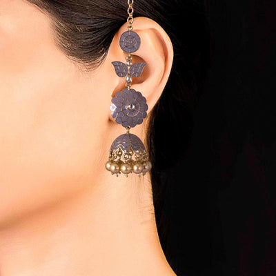 Layered Grey Jhumkas