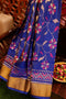 Rajkot patola silk saree blue with golden zari border