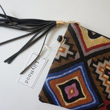 Clutch Bag In Tribal Patterns