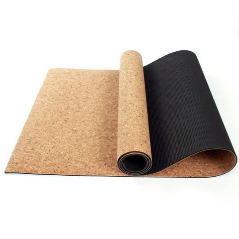 Cork Yoga Mat 5mm With Carry Bag