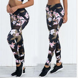 Floral High Waisted Compression Yoga Pants