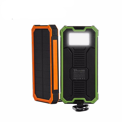 Waterproof Portable Solar Power Bank (10000mAh)
