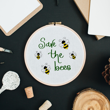 Save the Bees - Embroidery Kit