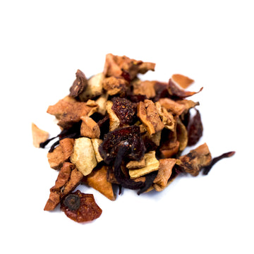 Close up of Blood Orange loose leaf fruit tea from Very Craftea