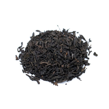 Close up of China Keemun loose leaf black tea from Very Craftea