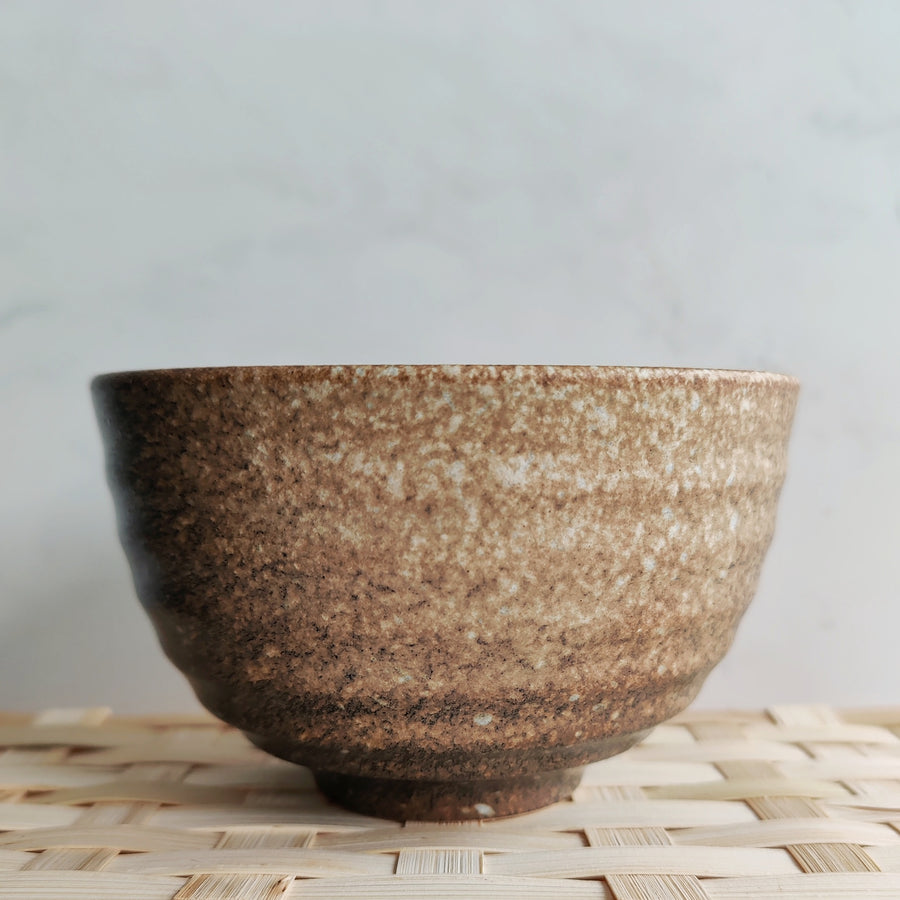 Brown and Black Matcha Bowl from Very Craftea