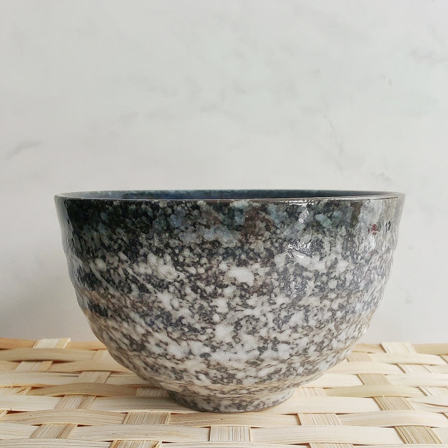 Grey and Black Matcha Bowl from Very Craftea