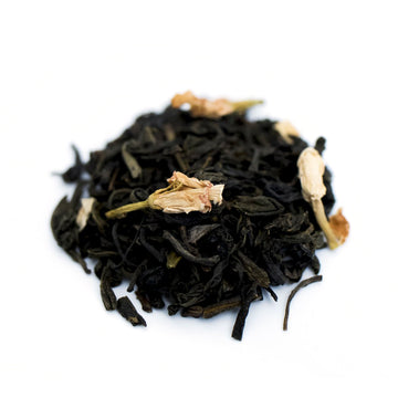 Close up of Jasmine Green loose leaf green tea from Very Craftea