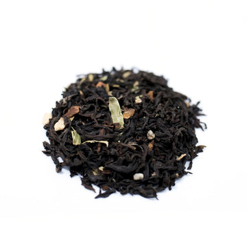 Close up of Desi Masala Chai loose leaf black tea from Very Craftea