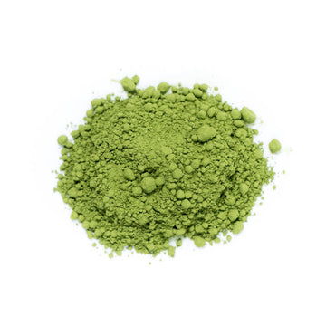Close up of Matcha Powdered Tea loose leaf green tea from Very Craftea