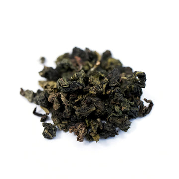 Close up of Tie Guan Yin loose leaf Oolong tea from Very Craftea