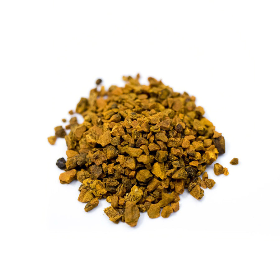 Close up of Turmeric loose leaf herbal tea from Very Craftea