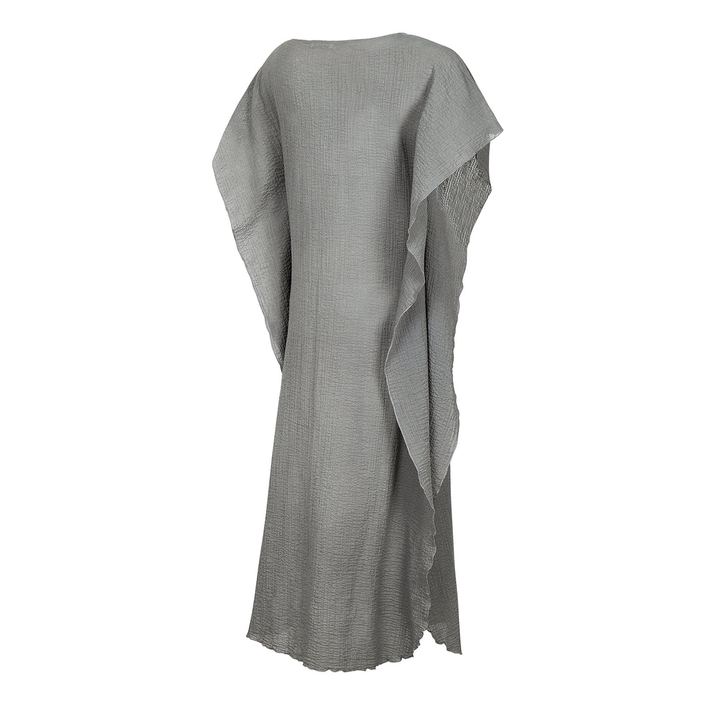 COTTON KAFTAN LONG GREY, RESORT WEAR, BEACHWEAR,100% COTTON