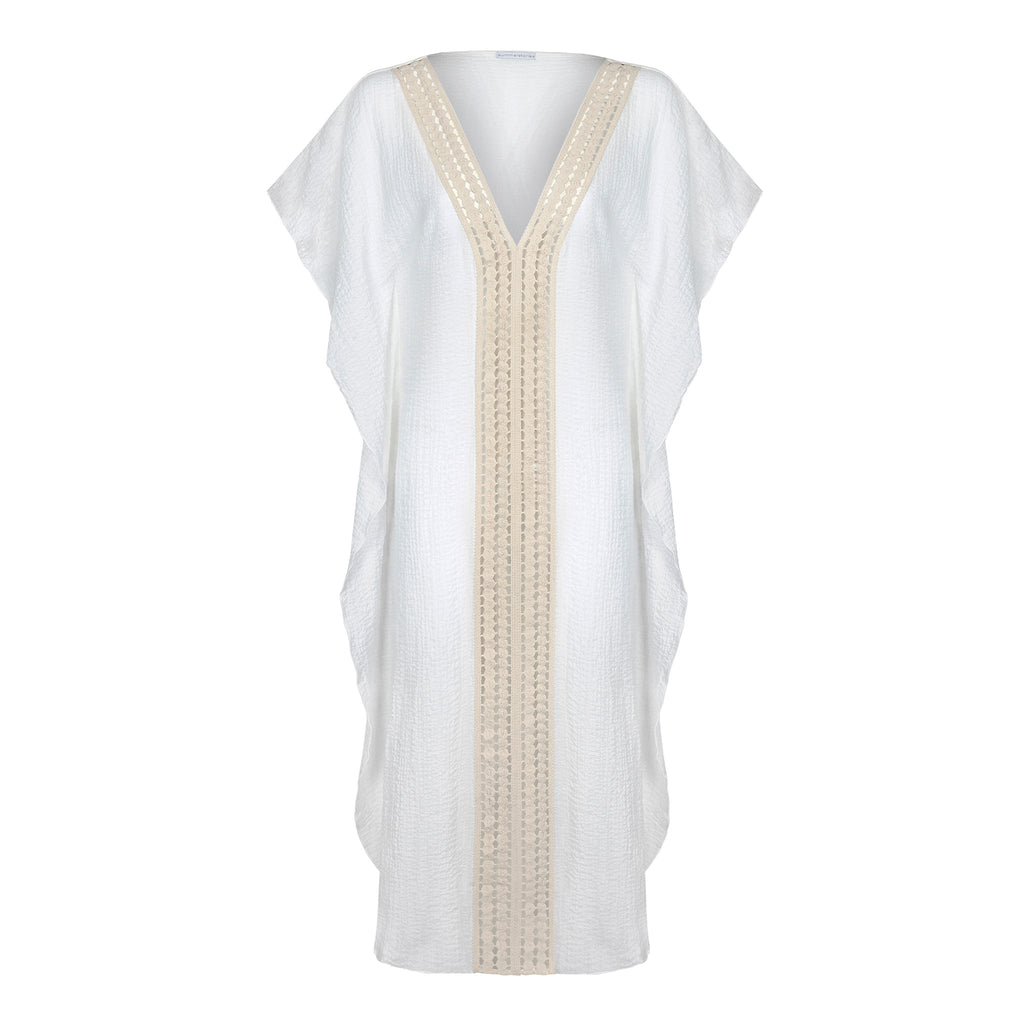 COTTON KAFTAN LONG WHITE