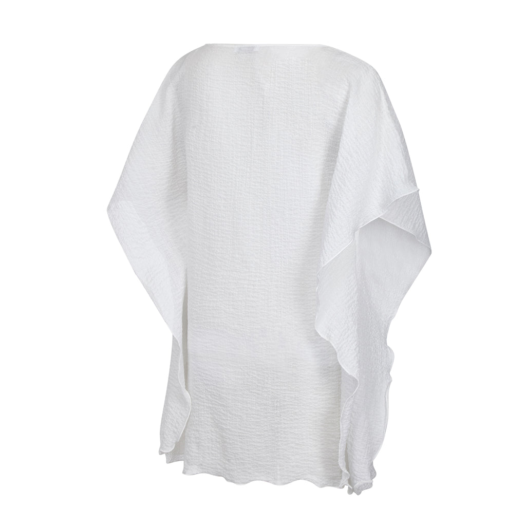 COTTON KAFTAN SHORT WHITE, RESORT WEAR, BEACHWEAR,100% COTTON