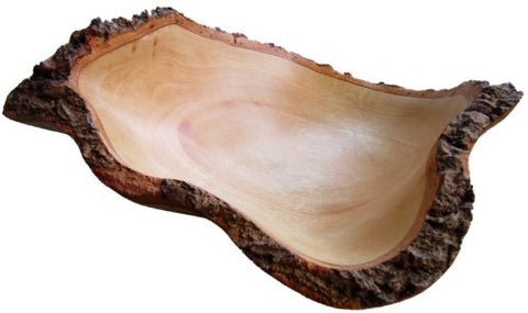 roro 10 In Mango Wood Fruit Bowl with Bark Edges Made from Sustainable Orchard Wood rorodecor.myshopify.com