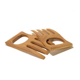 roro Acacia Wood Set of Salad Claws and Hands, 6 Inch rorodecor.myshopify.com